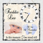 Personalised New Baby Photo Birth Details Christening Gift Shabby Plaque Chic
