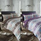 Scandinavian Nordic Ethnic Reversible Duvet Quilt Cover Bedding Set