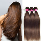 3 Bundles Brazilian Remy Straight Human Hair Extensions 150g #2 Unprocessed