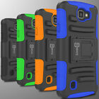 Tough Belt Clip Holster Kickstand Combo Phone Cover Case for LG Optimus Zone 3