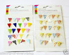 Mini Craft Bunting Flags on String Embellishments Card Making Craft