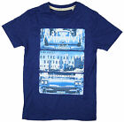 Boys Miami Highway Coast USA Cotton T-Shirt Top Blue 7 to 16 Years NEW
