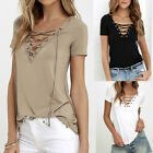 New Fashion Summer Sexy Lady Lace Womens Short Sleeve T-shirt Casual Tops Blouse