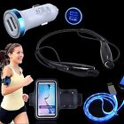 Bluetooth Headset Sports Armband Car Charger USB Cable for Samsung Galaxy Phones