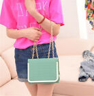 Womens Girl Fashion Clutch Handbag Tote Purse PU Chain Crossbody Shoulder Bag