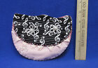 Hand Crafted Purse Clutch Bag Mennonite Crafts USA Made NEW Pink Music Note
