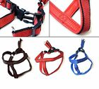 Comfort Medium Large Dogs Strong Harness Nylon inside Soft PU Leather Strap