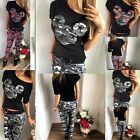 2016 Womens Ladies Camouflage Army Print Loungewear Tracksuit Set Joggers Pant