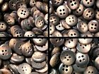 Small 9mm 10mm 11mm 12mm Chocolate Mid Brown Shirt Baby 4 Hole Buttons W58-61x