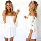 Sexy Women Summer Lace Sleeveless Casual Evening Party Cocktail Short Mini Dress