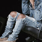 Fashion Casual Mens Stylish Designed Straight Hole Jeans Trousers Jean Pants