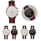 Luxury Mens Watches Classics Canvas Band Analog Watch Quartz Wrist Watches Gift