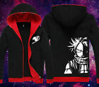 Anime Fairy Tail Natsu Clothing Hooded Sweatshirt Jacket Cosplay Hoodie cos