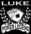 Personalised Poker T-Shrt Mens Ladies Gift Idea Add Name Of Your Choice Cards