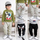 Baby Boy Long Bottoms Monsters Printed Sportswear Sweatpant Jogger Pant Trousers