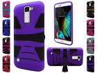 For LG K10 Tough Dual Layer Hybrid U kickstand Cover Case