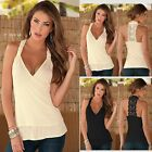 Women Summer Fashion Lace Vest Top Sleeveless Casual Tank Blouse Tops T-Shirt