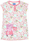 Girls Official Peppa Pig All Over Print Frill Nightdress Nightie 1 to 6 Years