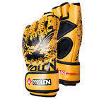 Thick Leather Gel Tech MMA UFC Grappling Gloves Fight Boxing Punch Bag Training