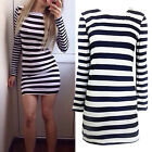 CHIC Fashion Sexy Women Long Sleeve Evening Casual Cocktail Party Bodycon Dress