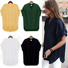 CHIC Sexy Women Loose T-shirt Short Sleeve Casual Tops Blouse plus size M-4XL
