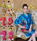 Charming Chinese Silk Evening Dress Robe Gown Bathrobe Plus Size