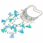 Collana Girocollo Donna Moda Cristallo Pendente Choker Statement Bib Necklace