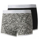Adidas Slim Boxer Shorts Trunks Mens 2 Pack Underwear M32677 U105