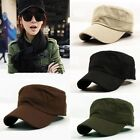 Classic Plain Vintage Army Military Cadet Mens Womens Sport Cap Hat  Adjustable