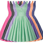 Womens Vintage 50s 60s Housewife Party Dress Pinup Swing Skater SUMMER Dress
