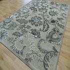Traditional / Floral Silk Look Rugs Genova Marseille Silver & Taupe - 38240/6525