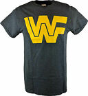 WWF Old School Yellow Logo Mens Gray T-shirt