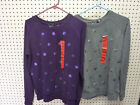 Kersh Womens Stretch Pull Over Crew Neck Sequin Knit Sweater 867996