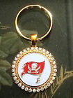 RHINESTONE KEYRING/  KEYCHAIN W/ TAMPA BAY BUCCANEERS SETTING JEWELRY $34.99 USD on eBay