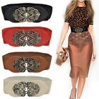 waist belts fashion - Fashion Women Leather Belts Wide Dress Belts Elastic Stretch Buckle Waist Belt