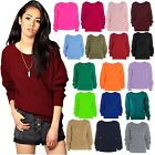Women Ladies Chunky Loose Baggy Knitted Knitwear Jumper Top Sweater 8-14