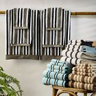 Luxury Egyptian Cotton Loops Stripe 6PC Towel Set