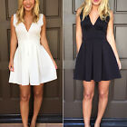 CHIC Sexy Women Summer Casual V-neck Sleeveless Party Cocktail Short Mini Dress