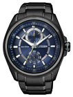 Citizen Eco-Drive Blue Multi Dial 100m Black IP Gent's Watch BU3005-51L