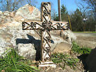 LARGE Standing Cross unique Religious gift wood iron 0801