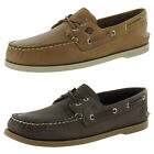 Sperry Mens A/O 2-Eye Cross Lace Slip On Moc Toe Boat Shoes