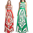 CHIC Women Sexy Summer Sleeveless Evening Party Beach Dress Long Maxi Dress