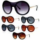 SA106 Retro Unique Shield Round Rimless Womens Sunglasses
