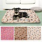 Pet Warm Mat Small Large Paw Print Cat Dog Puppy Fleece Soft Blanket Bed Cushion