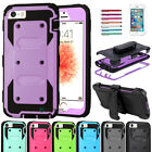 Shockproof Hybrid Rubber Armor Belt Clip Holster Case Cover for iPhone 5/5S/SE