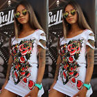 New Womens Casual Sleeveless Floral Shirt Blouse Loose Dress T-Shirt Long Tops