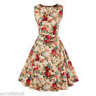 Plus Size 50s 60s Vintage Style Sexy Womens Rockabilly Evening Party Swing Dress