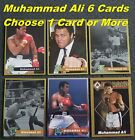 MUHAMMAD ALI _ 6 Different RARE Limited Print Cards _ Choose 1 Card or Several