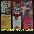 JIM KELLY 1990's Limited-Print Cards  _ Choose 1 or More _ 10 Mail FREE in USA