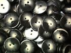 20mm 32L Dark Grey & Cream Patterned Chunky 2 Hole Quality Craft Buttons (W153)